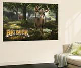 Big Buck Whitetail Deer with Logo Carta da parati decorativa di Mike Colesworthy