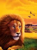 Big Buck Safari Lion Cabinet Art Decalcomania da muro di John Youssi