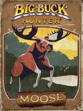 Vintage Moose Poster Plastikschild von Anthony Salinas