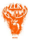 Elk Spray Paint Orange Kunstdrucke von Anthony Salinas