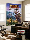 Big Buck Pro Open Season Cabinet Art with Logo Carta da parati decorativa di John Youssi