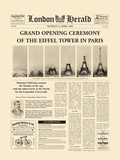 The Grand Opening Ceremony of the Eiffel Tower Posters av  The Vintage Collection
