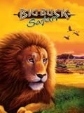 Big Buck Safari Lion Cabinet Art with Logo Decalcomania da muro di John Youssi