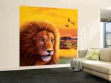 Big Buck Safari Lion Cabinet Art Iso seinämaalaus tekijänä John Youssi