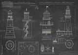 Survey of Lighthouses Kunst av  The Vintage Collection