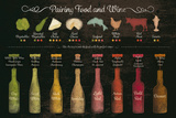 Pairing Food and Wine Lámina giclée por  The Vintage Collection