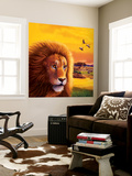 Big Buck Safari Lion Cabinet Art Carta da parati decorativa di John Youssi