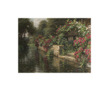 Along the River Premium Giclee Print by Louis Aston Knight