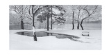 Prospect Park Snowy Bench Panorama Photographic Print by Henri Silberman