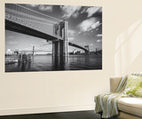 Brooklyn Bridge Afternoon Clouds Wall Mural by Henri Silberman