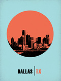 Dallas Circle Poster 1 Plastic Sign by  NaxArt