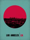 Los Angeles Circle Poster 1 プラスチックサイン : NaxArt(ナックスアート)