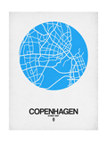 Copenhagen Street Map Blue Poster by  NaxArt