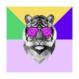 Party Tiger in Glasses Lámina por Lisa Kroll