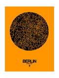 Berlin Street Map Yellow Poster por  NaxArt