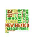 New Mexico Word Cloud Map Plakater av  NaxArt
