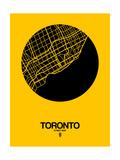Toronto Street Map Yellow Giclée-Premiumdruck von  NaxArt