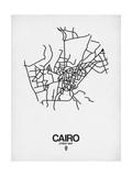 Cairo Street Map White Poster von  NaxArt