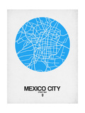 Mexico City Street Map Blue Posters af  NaxArt