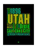 Utah Word Cloud 1 Posters av  NaxArt