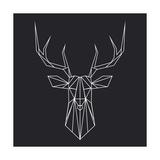 Deer Polygon Schilderij van Lisa Kroll
