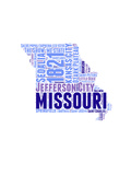 Missouri Word Cloud Map Posters av  NaxArt