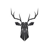 Black Polygon Deer Pôsters por Lisa Kroll