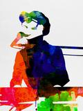Stevie Watercolor Plastikskilt af Lora Feldman