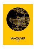 Vancouver Street Map Yellow Giclée-Premiumdruck von  NaxArt