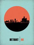 Detroit Circle Poster 2 Plastskilt av  NaxArt