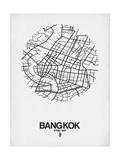 Bangkok Street Map White Poster by  NaxArt