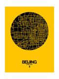 Beijing Street Map Yellow Poster von  NaxArt