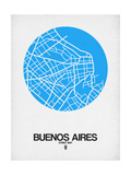 Buenos Aires Street Map Blue Posters por  NaxArt