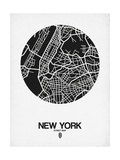 New York Street Map Black and White Poster by  NaxArt