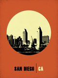 San Diego Circle Poster 2 Plastic Sign by  NaxArt