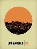 Los Angeles Circle Poster 2 プラスチックサイン : NaxArt(ナックスアート)
