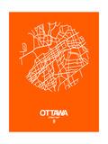 Ottawa Street Map Orange Giclée-Premiumdruck von  NaxArt