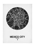 Mexico City Street Map Black on White Kunstdrucke von  NaxArt