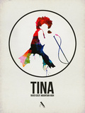 Tina Watercolor Plastic Sign by David Brodsky