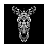 Zebra on Black Pósters por Lisa Kroll