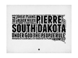 South Dakota Word Cloud 1 Premium Giclee-trykk av  NaxArt