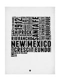 New Mexico Word Cloud 2 Plakat av  NaxArt