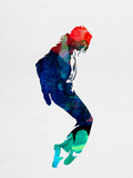 Michael Watercolor Signe en plastique rigide par Lora Feldman