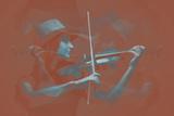 Violinist Brown Plastskylt av  NaxArt