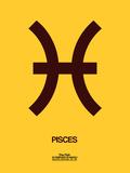 Pisces Zodiac Sign Brown Muovikyltit tekijänä  NaxArt