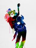 Slash Watercolor Plastikskilt af Lora Feldman