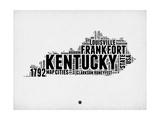Kentucky Word Cloud 2 Plakater av  NaxArt