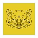 Yellow Raccoon Polygon Prints by Lisa Kroll