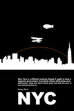New York Night Poster プラスチックサイン : NaxArt(ナックスアート)