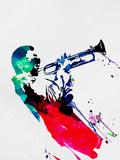 Miles Watercolor Plastskilt av Lora Feldman
